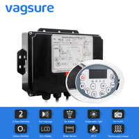 LCD Display AC 110/220V Bathtub Pump Control Panel With Water Combo Air Massage tub Sensor Thermostatic Heater Function