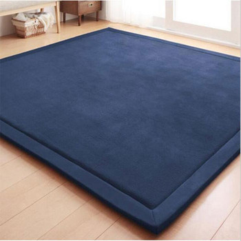 coral fleece velvet Simple 20MM thick mats bedroom carpet thickened children climbed  living room rug pad