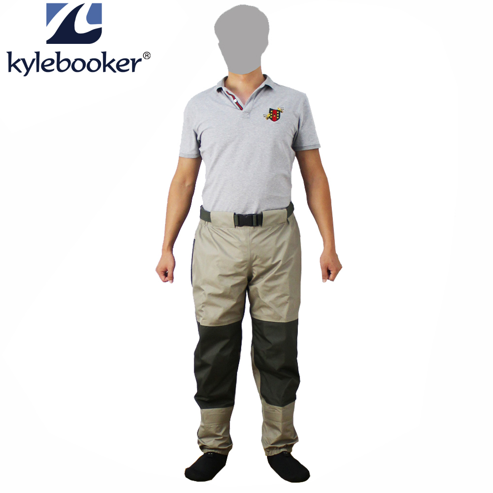 טוס דיג מותניים מגפים מכנסיים עמיד למים מכנסיים שכשוך לנשימה מותניים מכנסיים עם גרב רגל
