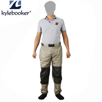 Fly Fishing Waist Waders Pant Durable Waterproof trousers Wading Breathable Waist Pants With Stocking Foot - DISCOUNT ITEM  52% OFF All Category