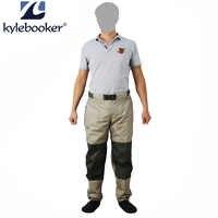 Pesca a mosca Vita Trampolieri Pant Durevole Impermeabile pantaloni Trampolieri Traspirante Pantaloni A Vita Con La Calza Piede