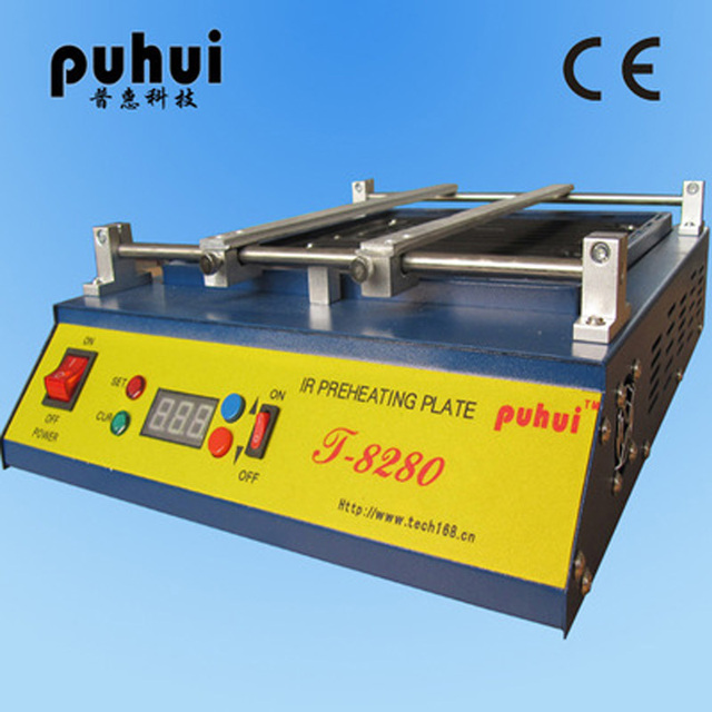 Puhui T8280 IR-Preheating Oven 220V/110V Preheat Plate Infrared Pre-heating Station For PCB SMD BGA Soldering