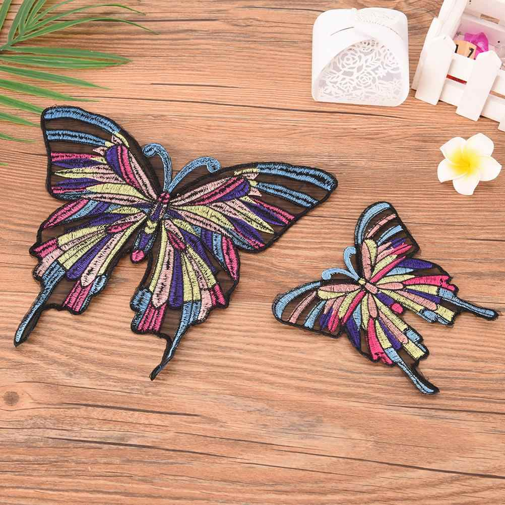 Butterfly Patches Heat Print On T-shirt Jeans Iron On Patches For Clothes A-level Washable Appliqued 2 Sizes