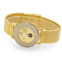 Belbi Top Brand Quartz Women Watch Female Hot Sale Fashion Steel Mesh Wrist Watch Ladies Gold Diamond Elegant Relojes 2016 Clock