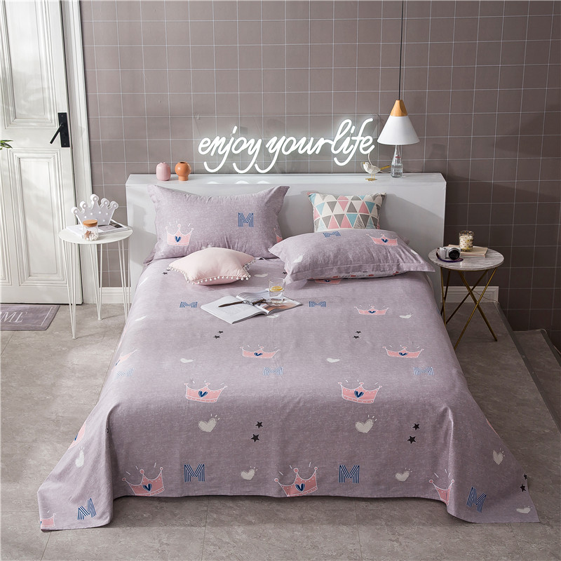 Cartoon Dark Purple Solid Color+ Pink Crown Pattern 3pcs ... - photo#26