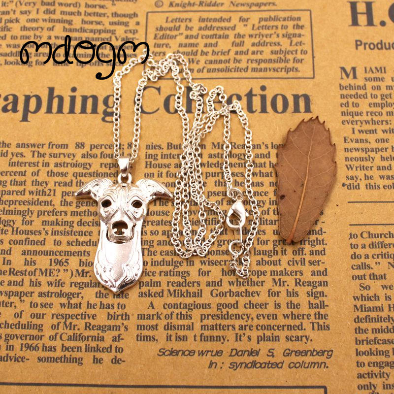 2018 Cute Greyhound Necklace Dog Animal Pendant Gold Silver Plated Jewelry For Women Male Female Girls Ladies Kids Boys N134