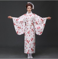 New Top Quality Traditional Japanese Kimonos Long Sleeve Nightgown Geisha Bathrobe Japanese Kimono Women Clothing Costume Set