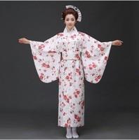New Top Quality Traditional Japanese Kimonos Long Sleeve Nightgown Geisha Bathrobe Japanese Kimono Women Clothing Costume Set