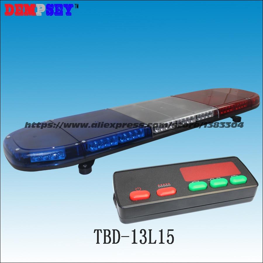 TBD-13L15  High Quality Red&Blue LED Lightbar,Super Bright Emergency/Police Strobe Light,DC12V Car Roof Flashing Warning Light
