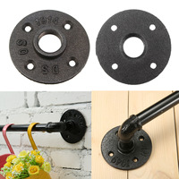 10PCS/Lot For 3/4 Pipe DN25 Iron Floor Flange High Quality Base Bracket Tube Pipe Loft Wall Mount Industrial Style