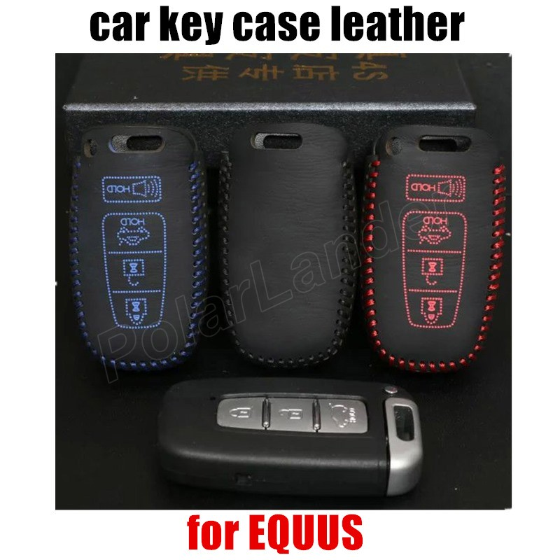 high quality Hand sewing DIY car styling Car key cover car key case Genuine leather fit for HYUNDAI EQUUS