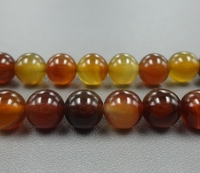Inches Of Strand Natural Orange Striped Agate Smooth Round Bead Lace Agate Loose Beads Jewelry Supplies