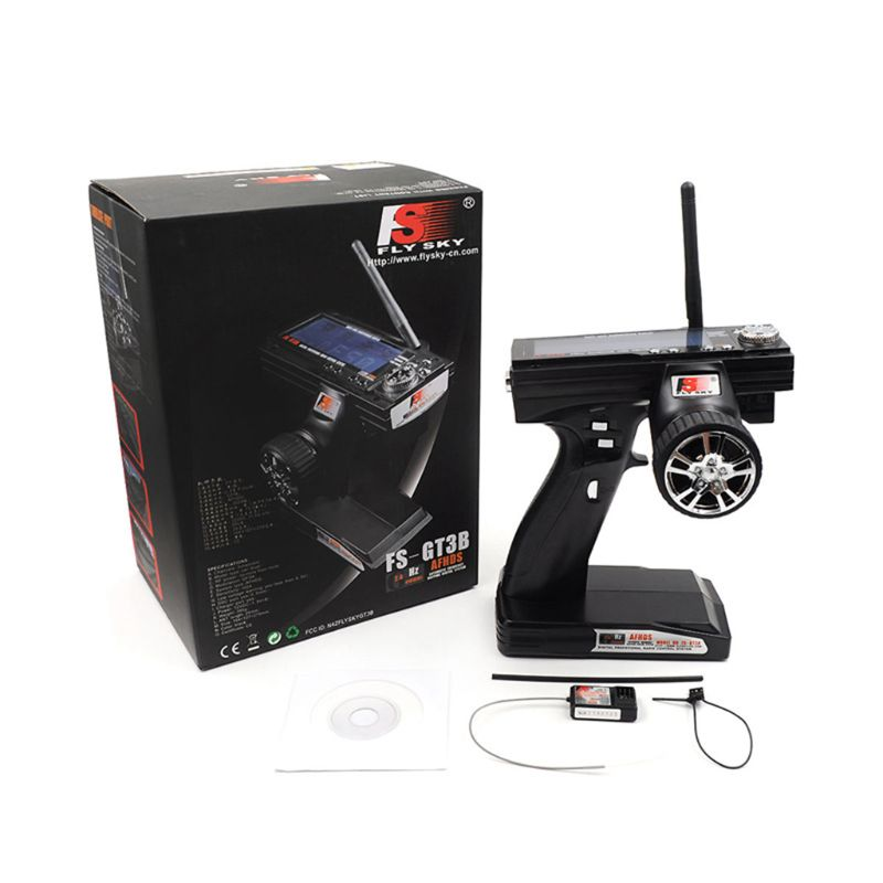 Flysky FS-GT3B 2.4G 3CH Gun RC System Transmitter with FS-GR3E Receiver For RC Car BoatFlysky FS-GT3B 2.4G 3CH Gun RC System Transmitter with FS-GR3E Receiver For RC Car Boat