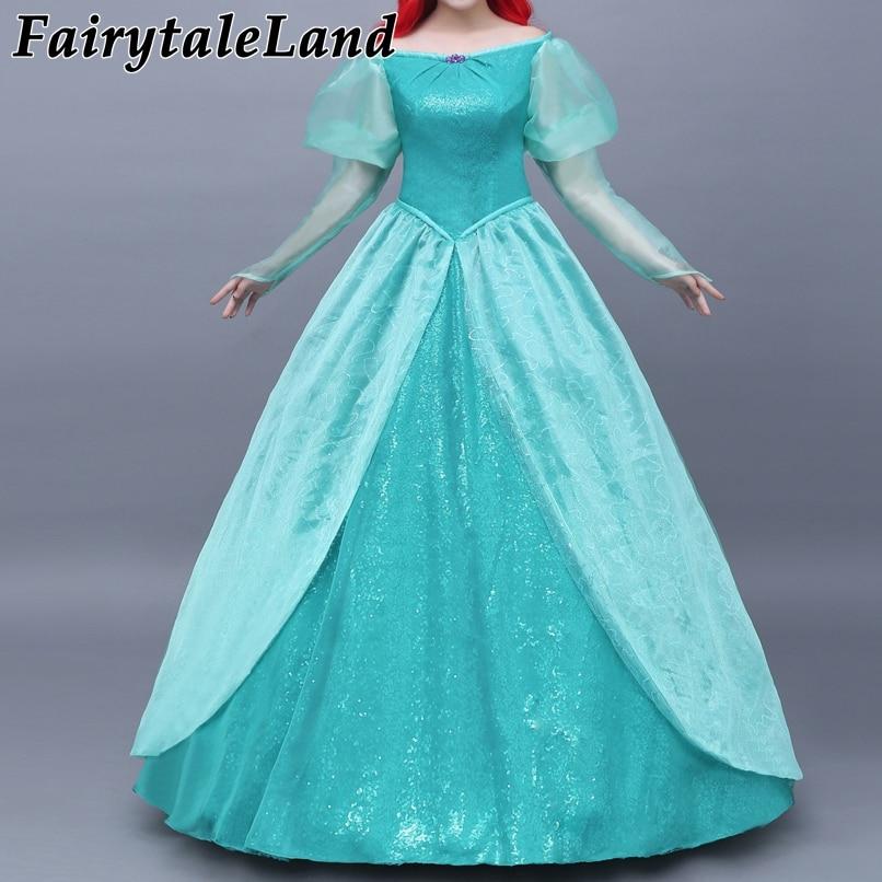 The Little Mermaid Princess Ariel Dress Cosplay Costume Adult Pink Fancy Dress