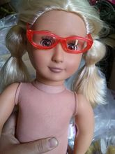 Hot Sell red American girl doll sunglass fits for 18″ american girl doll alexander,girl's dolls,free shpping