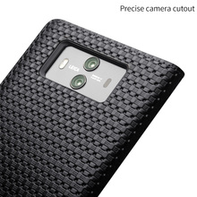 QIALINO Grid & Lizard Pattern Leather Case for Huawei Mate 10