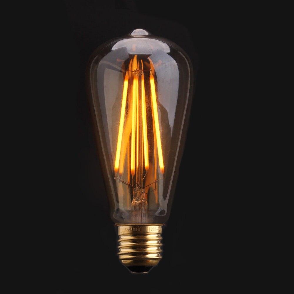 sealight led edison filament bulb golden st64 e27 led dimmable light 220v energy saving lamp. Black Bedroom Furniture Sets. Home Design Ideas