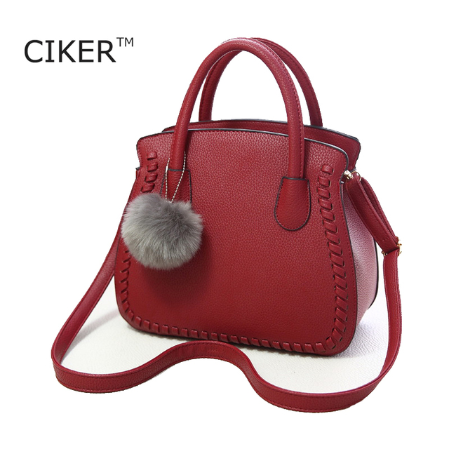 CIKER Luxury Red Retro Vintage Bag Designer Handbags High Quality Cute  Women Leather Famous Brand Tote 2fab1d1c642a1