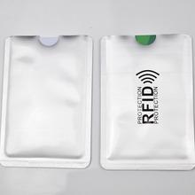 anti-scan card sleeve Rfid Blocking Bank Card Protection Credit Card Holder Aluminium 6.3*9.1cm