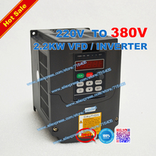 2.2kw VFD Raising the voltage Inverter input voltage 220V to 380V Inverter 2.2kW VFD  and Control Mode SPWM + Potentiometer Knob 2 2kw vfd inverter