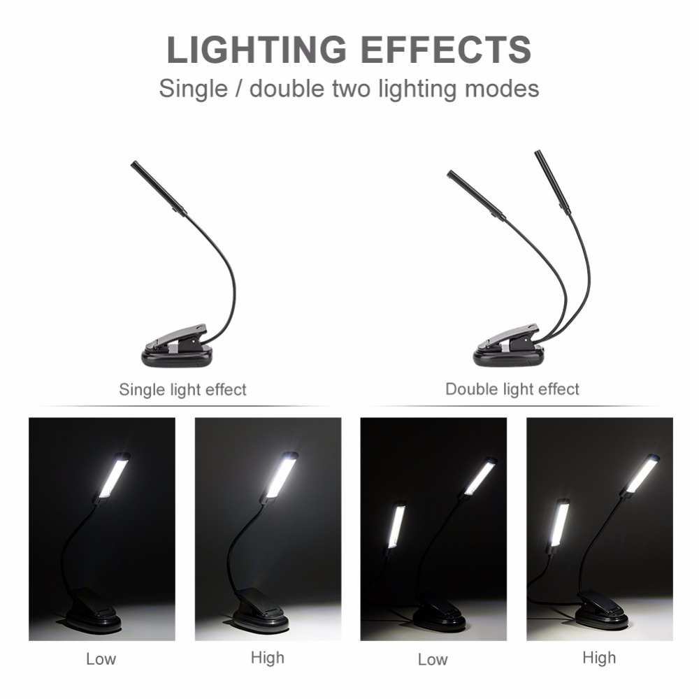 Livro Luzes luz branca cor booklight led Reading Lamp : Mini Flexible Clip-on Reading Lamp