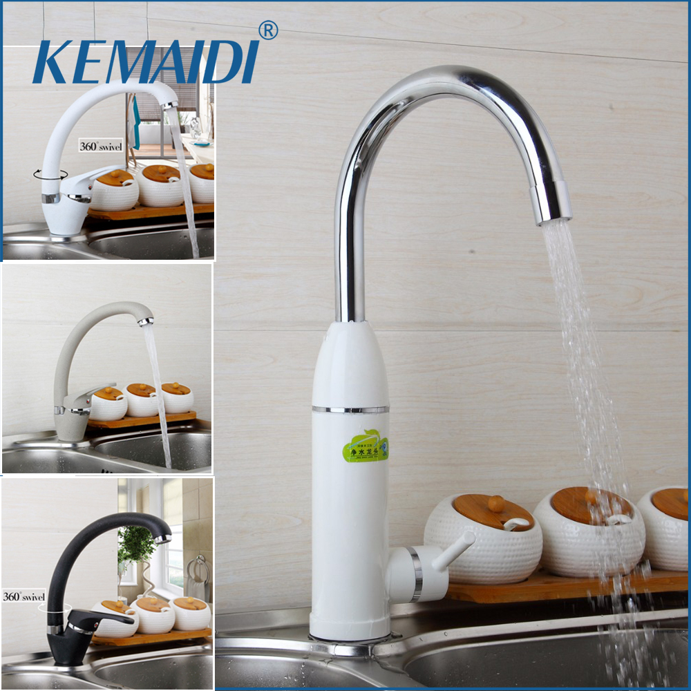 KEMAIDI Kitchen Faucet Bend Pipe 360 Degree Rotation with Water Purification Features