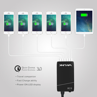 Wavlink 6 USB Ports Charger HUB 60W 12A Quick Charge With AC Power Adapter USB C