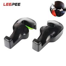 Leepee 2 Stuks Car Seat Terug Haken Bag Hanger Holder Universele Organizer Automobiles Hoofdsteun Mount Opslag Haken Clips