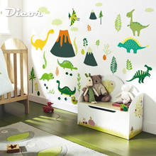 2019 New Big Wall Stickers Dinosaur Cartoon DIY Decor For Kids Room Self Adhesive Waterproof Wallpaper Gift Children