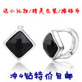 free shipping 925 pure silver clip earring square button ear pure silver pure silver earrings fashion earring
