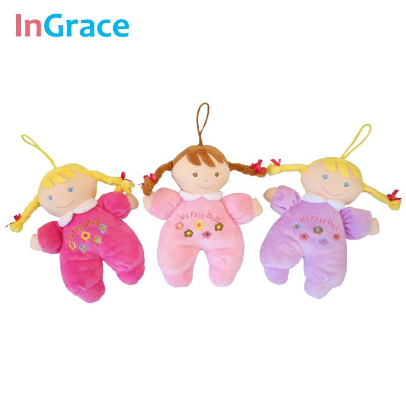 Ingrace fashion baby born doll 3 color soft Rattle toy stuff and baby - Anak patung dan aksesori - Foto 2