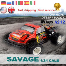 ET RC Car Hobby Buggy WLtoys A212 1/24 4WD Hight Speed Racing Car Electric Monster Truck RC Vehicle Remote Control Drift Car