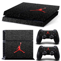 Basketball Legend Michael Jordan Red Air Logo Cover Decal PS4 Skin Sticker for Sony Play Station 4 Console & 2 Controller Skins
