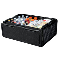 60 Cans Chill Chest Cooler Foldable Portable Outdoor Insulation Box Cool Box Insulation Waterproof Storage Box Picnic Bag