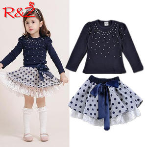 AiLe Rabbit girls 2pcs clothing dress children's skirt suit