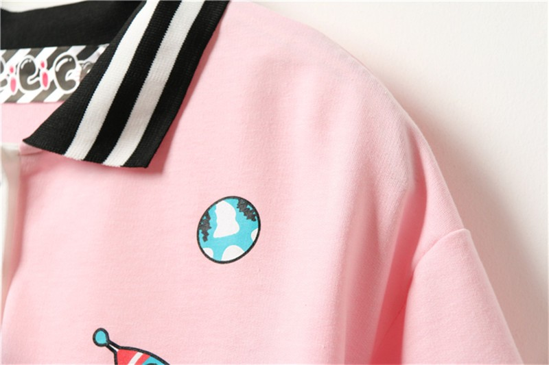 HTB1or5sJFXXXXb4XFXXq6xXFXXX7 - Cute Pink Harajuku Printed T Shirt Kawaii Cartoon Tee Tops 2017