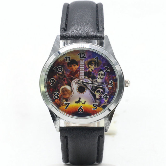 2018 hot selling children cute dial quartz watch Coco Cartoon Birthday Party Gif