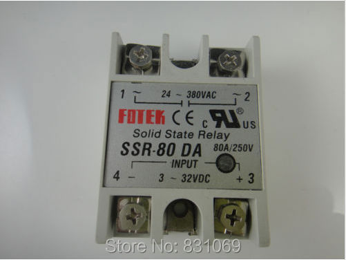цена на 3Pieces/Lot  Solid State Relay SSR-80DA 80A /250V 3-32VDC/24-380VAC Brand New