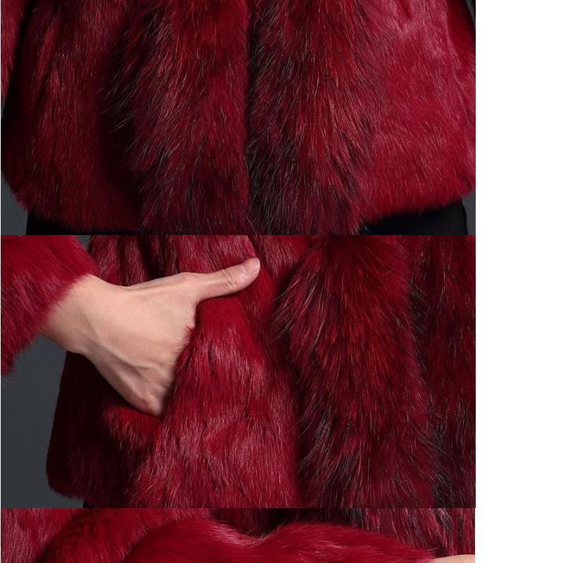 green gray Raton Chaude Of Femme Lzj Laveur Cheveux black yellow pieces 60 Paragraphe Luxe Long Court Red De Red Haute Fourrure 2017 Lapin Cm Vraiment brown Qualité Col Manteau wSqxI1Ip