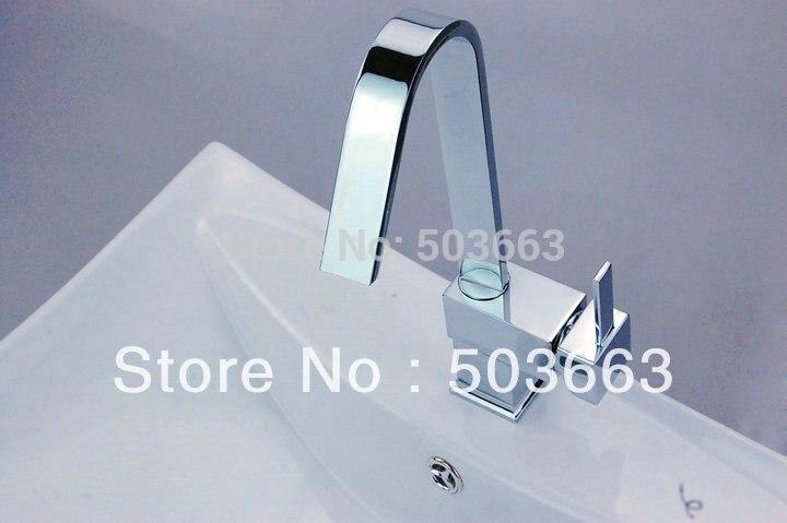 Brand New Chrome Swivel Kitchen Sink Faucet Vessel Mixer Tap Brass Faucet D 007