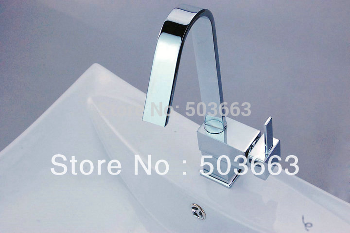 Brand New Chrome Swivel Kitchen Sink Faucet Vessel Mixer Tap Brass Faucet D 007