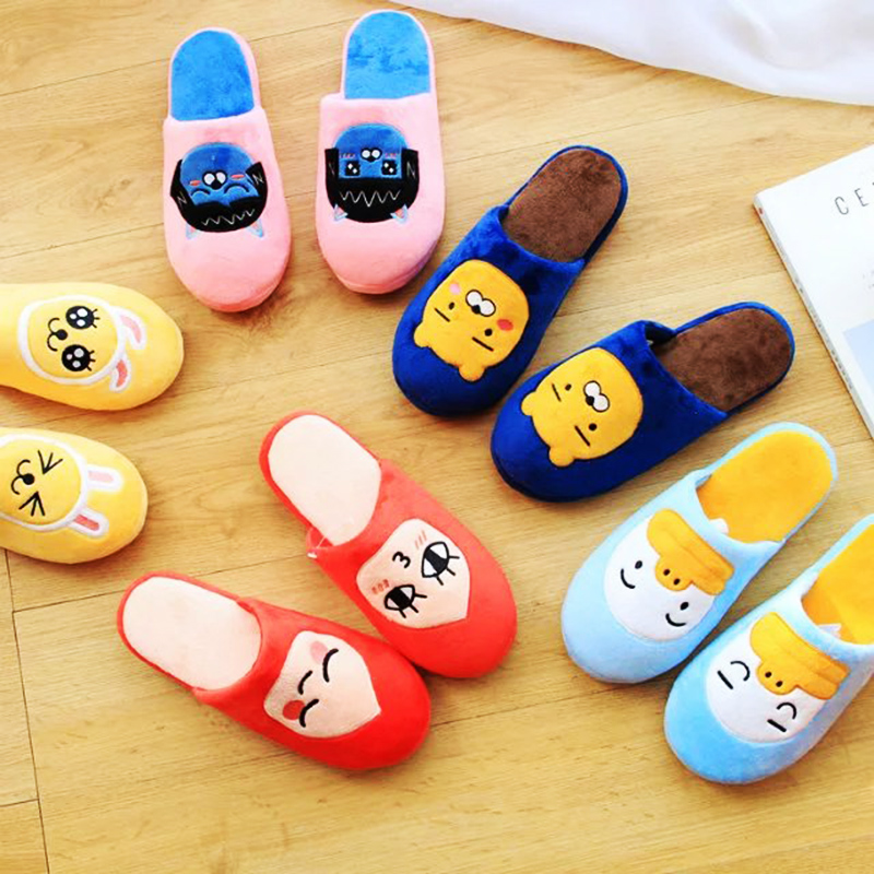 5Style Ryan Cocoa Friends indoor Slippers Warm Winter Adult Slipper stuffed Plush Shoes Toy for girl