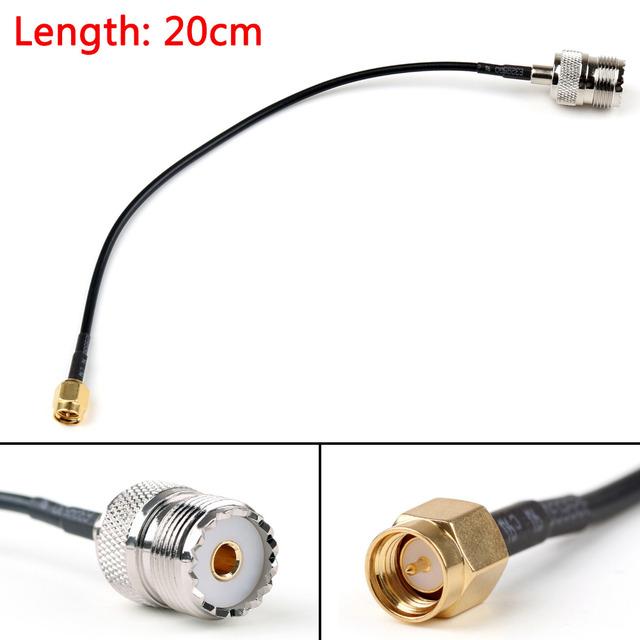 Areyourshop RG174 Cable SMA Male Plug To SO239 UHF Female Jack Crimp Coax Pigtail 20cm 50cm 1m 2m Wholesale Cable Wires
