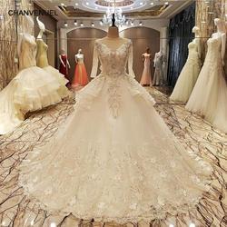 LSX70057 наличии нарядное платье свадебное платье 2018 на шнуровке сзади длина до пола бальный наряд кружевные торжественные платья органза