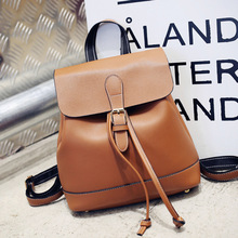 New Korean Leisure College Style Retro Drawstring Women Backpack Wild Large Capacity Travel Back Pack Female Schoolbag Bagpack