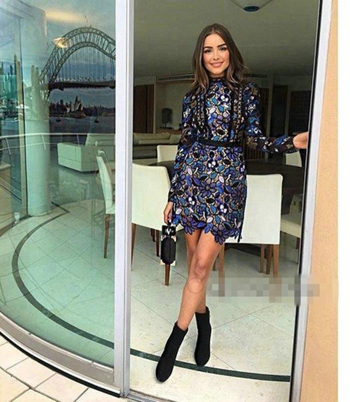 Nuovo 2016 l Lunga Dress Manica S Arriva m Inverno axnSxZw6Tq