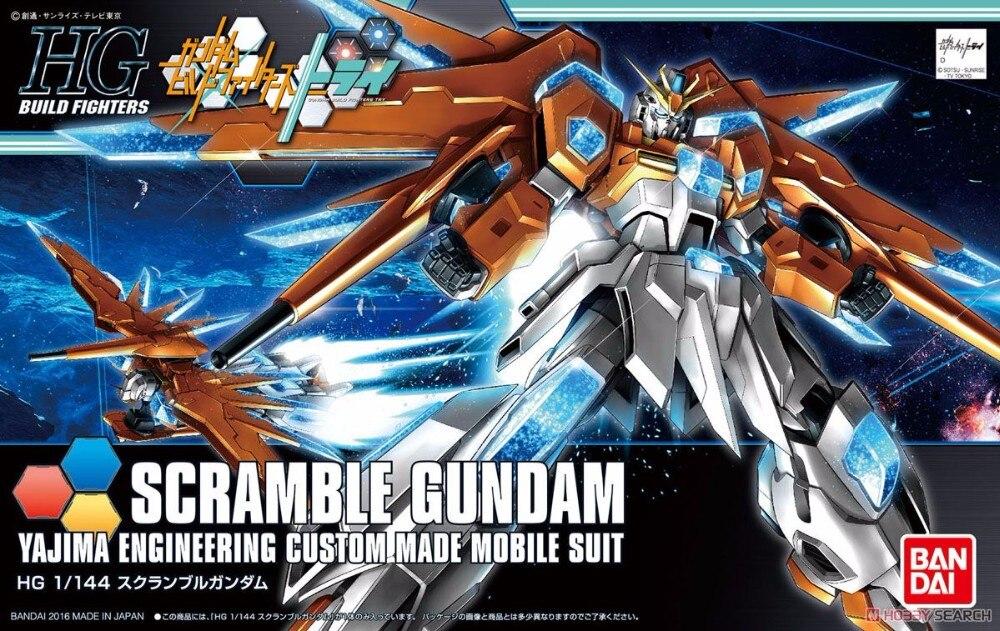 1PCS Bandai HG Build Fighters HGBF 047 1/144 Scramble Gundam Mobile Suit Assembly Model Kits Anime action figure Gunpla