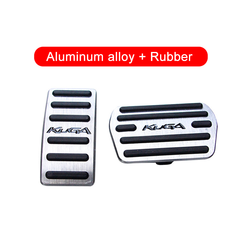 Image 3 - Aluminum alloy Car Accelerator Gas Pedal Brake Pedal Non Slip Pedal Pads Cover AT For Ford Kuga Escape 2013 2014 2015 2016 2017-in Pedals from Automobiles & Motorcycles