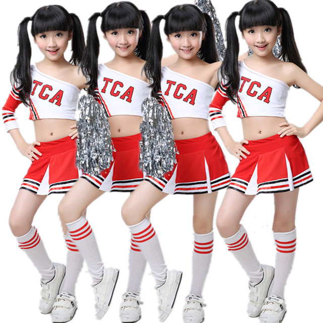 Children Competition Cheerleaders Girl School Team Uniforms KidS Kid Performance Costume Sets Girls Class Suit Girl School Suits