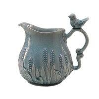 European style ceramic single ear vase American garden country creative bird adornment vase table coffee table display
